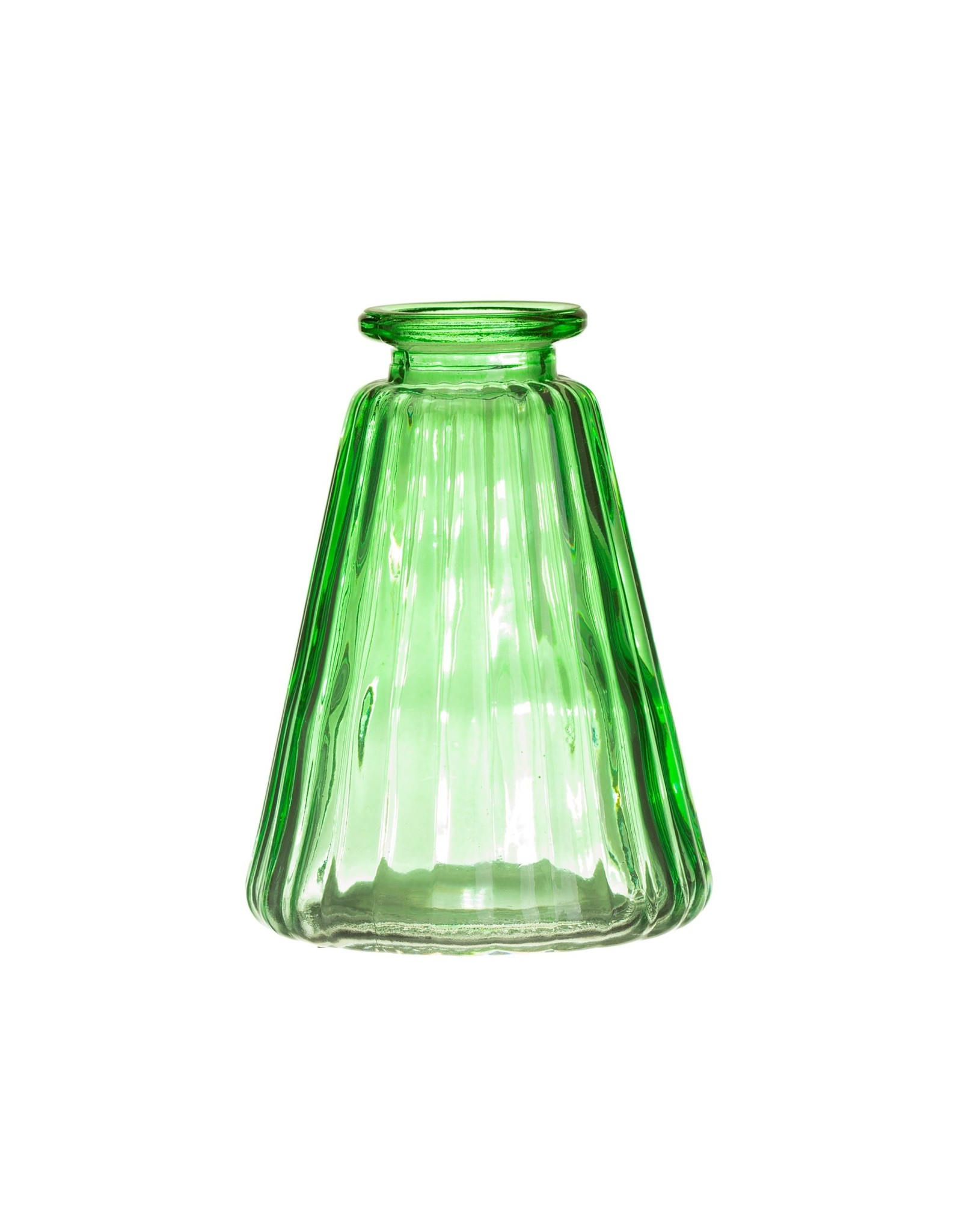 Vaasje glas groen schuin