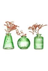Vaasje glas groen bol