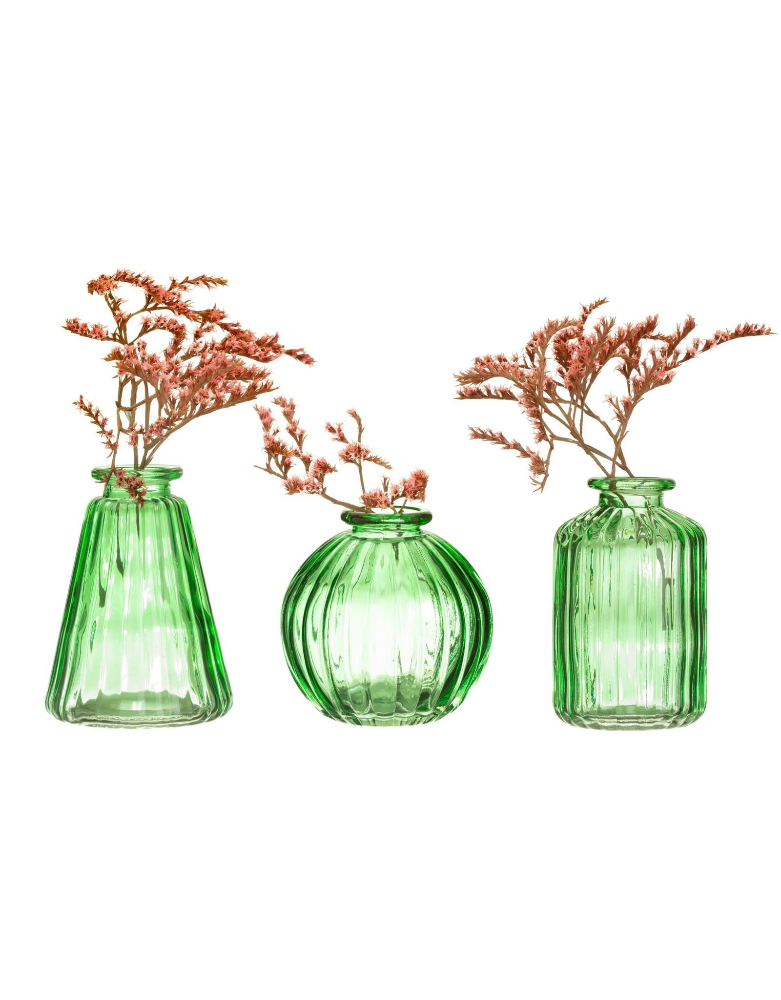 Vaasje glas groen recht
