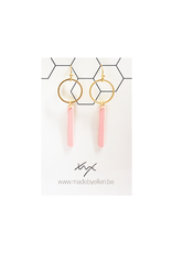 Mix&match hangertje cirkel & staafje roze