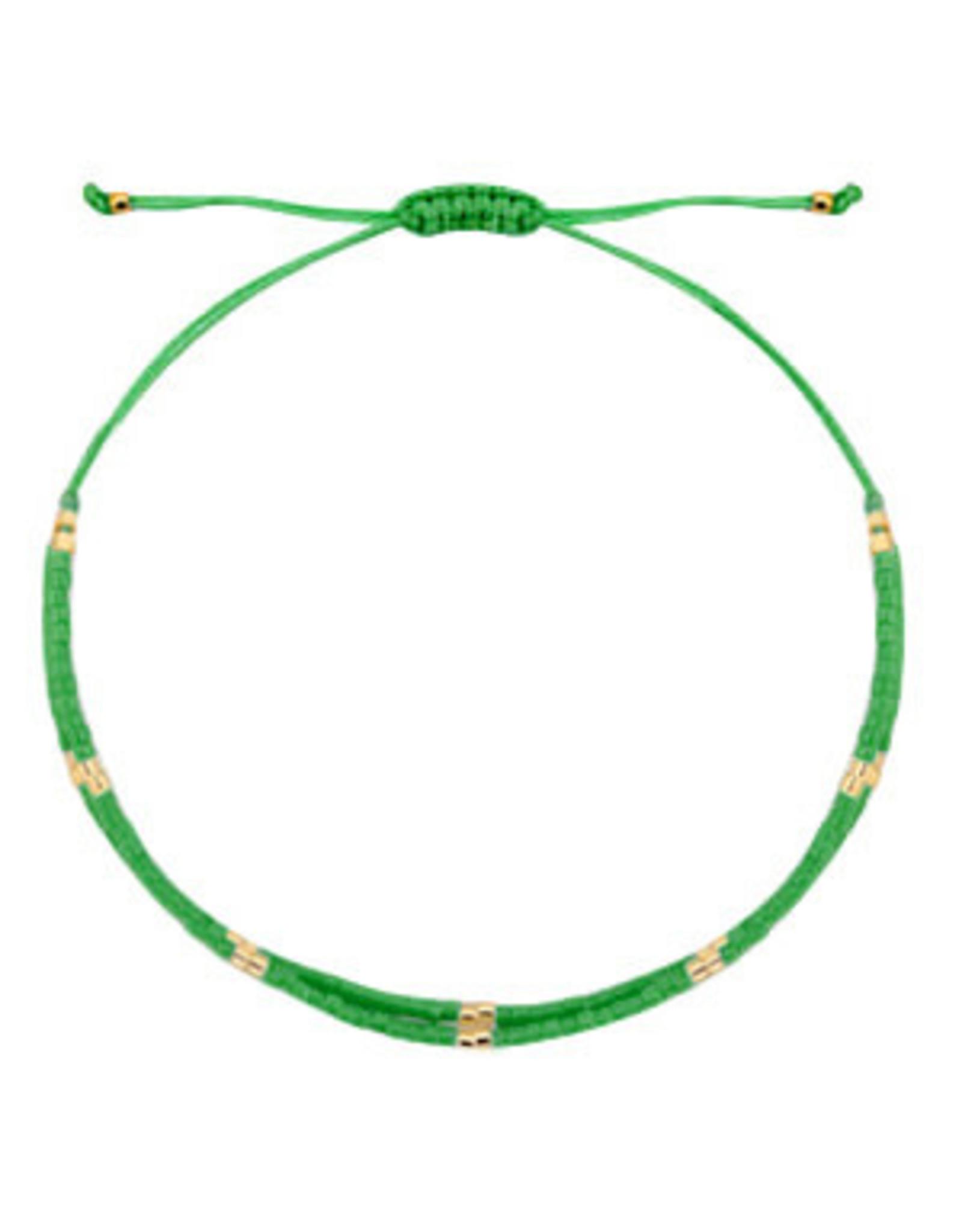 Armbandje fijn dubbel groen