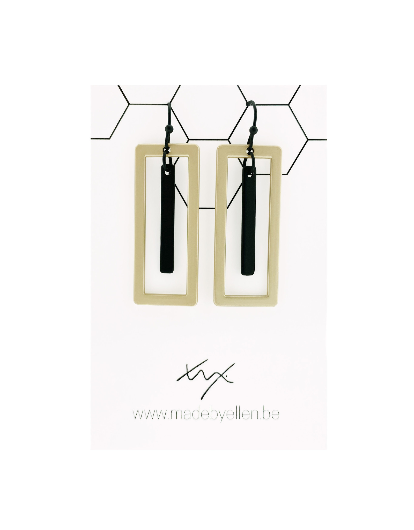 Mix&match rechthoeken kort staafje zwart