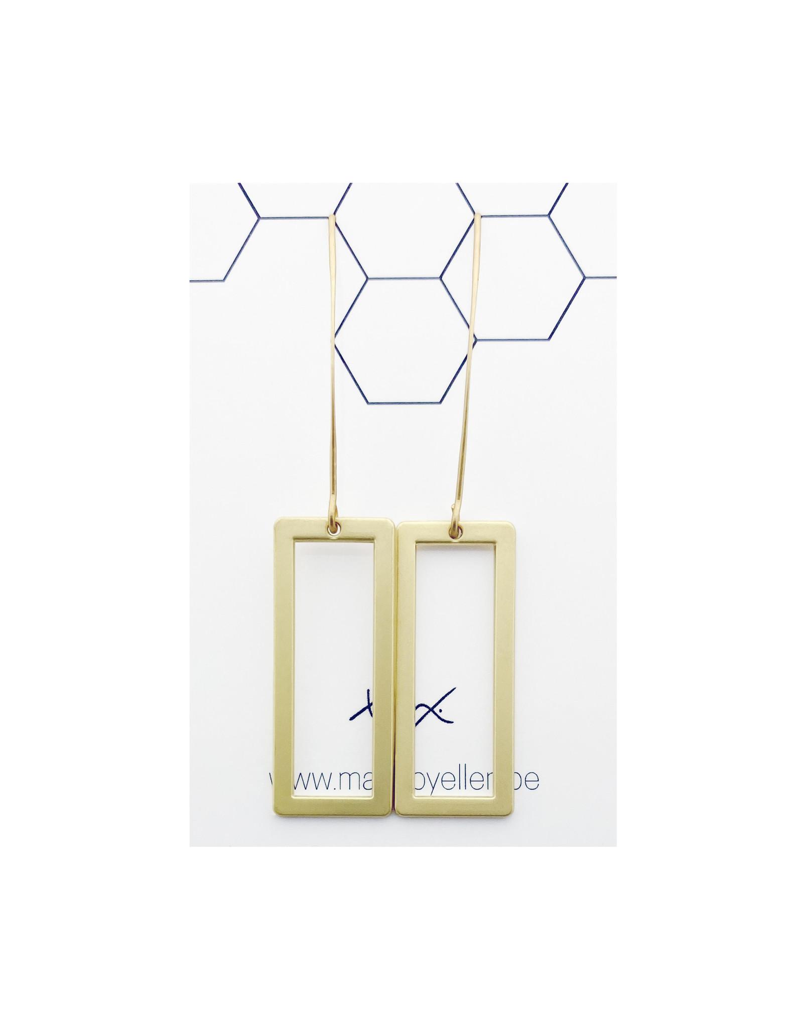Mix&match rechthoeken lange haak goud