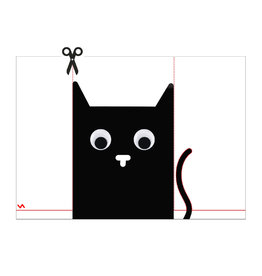 Postkaart DIY kat met wiebelogen