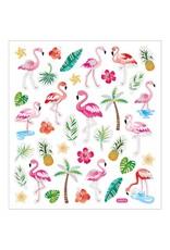 Stickervel glitter flamingo