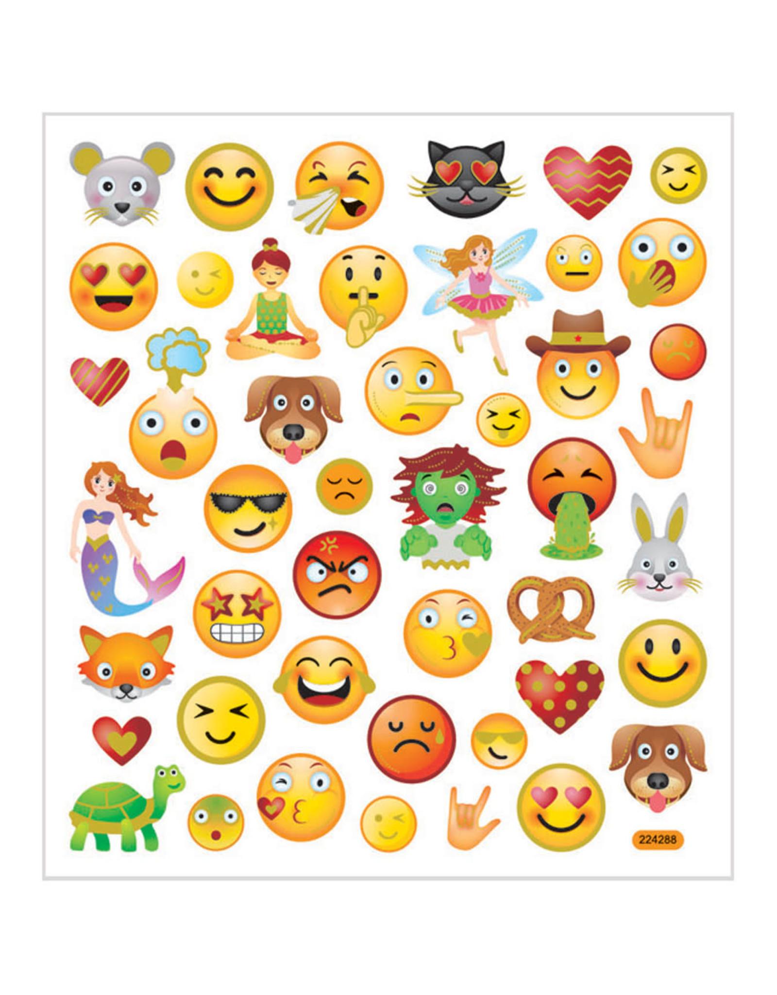 Stickervel goudfolie emoji