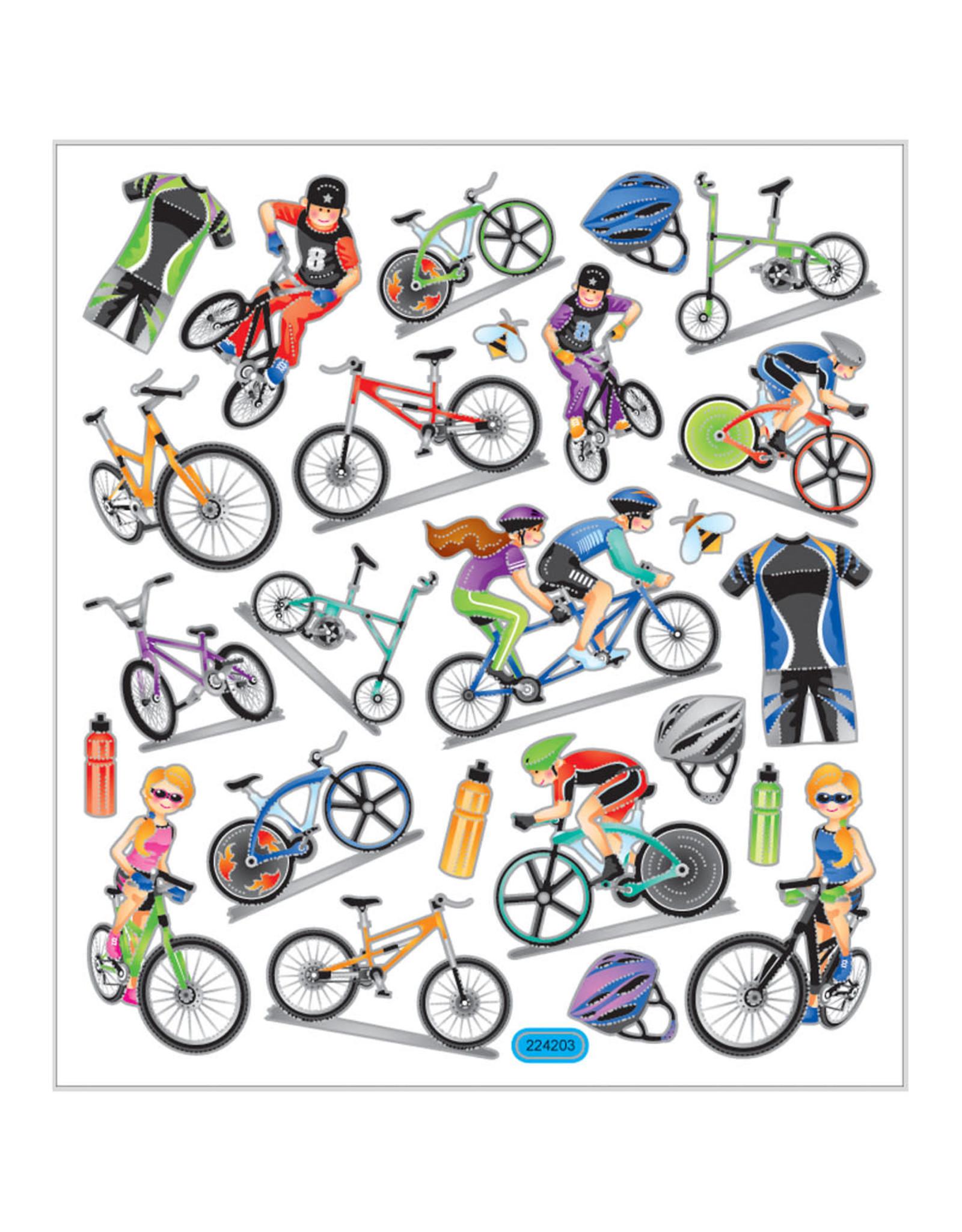 Stickervel zilverfolie fiets