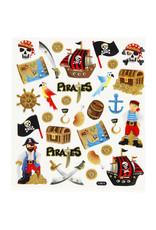 Stickervel glitter piraat