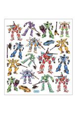 Stickervel zilverfolie transformers