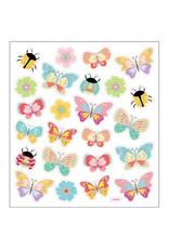 Stickervel glitter vlinder pastel