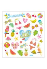 Stickervel glitter zomer