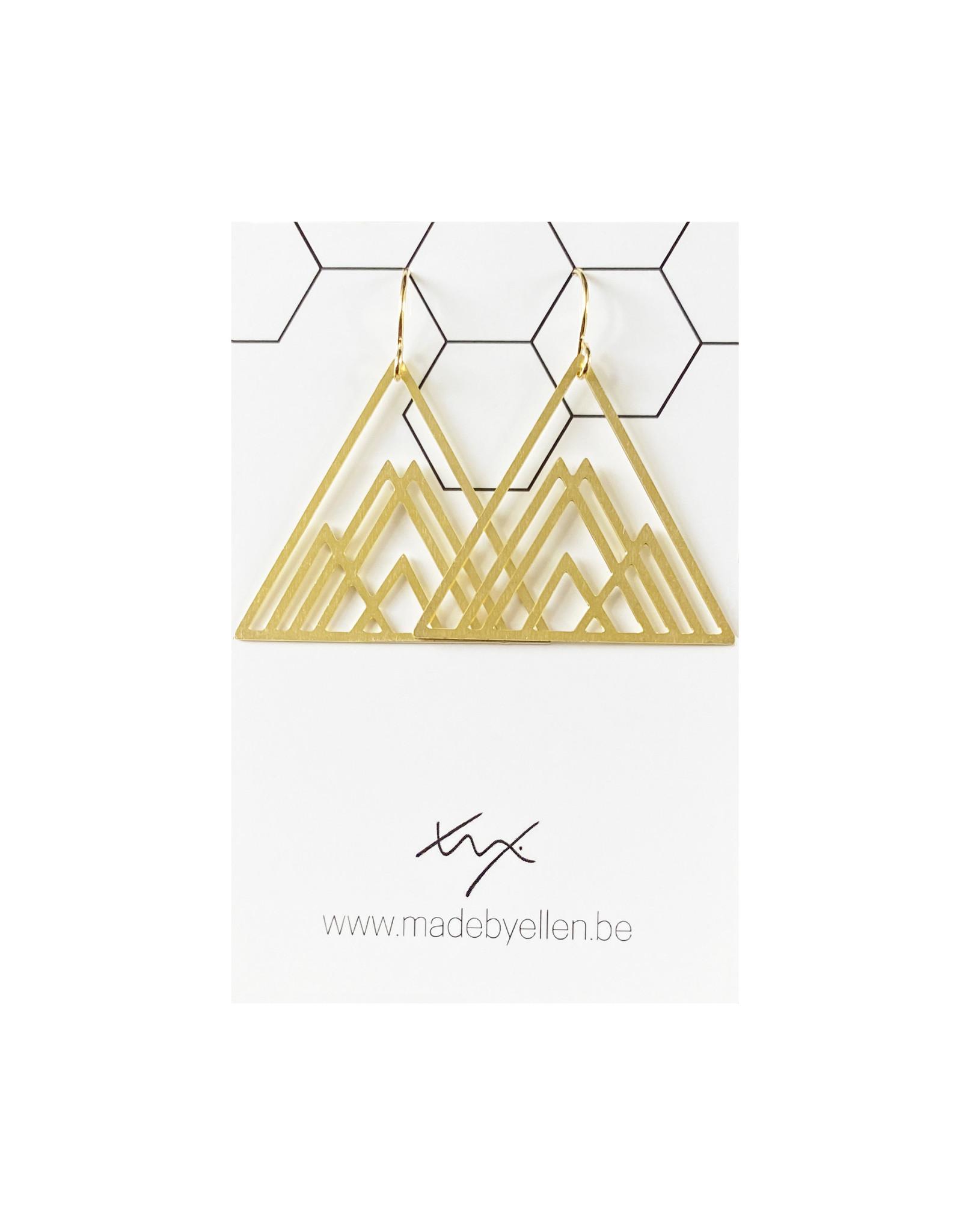 Hangers goudkleurig driehoeken groot