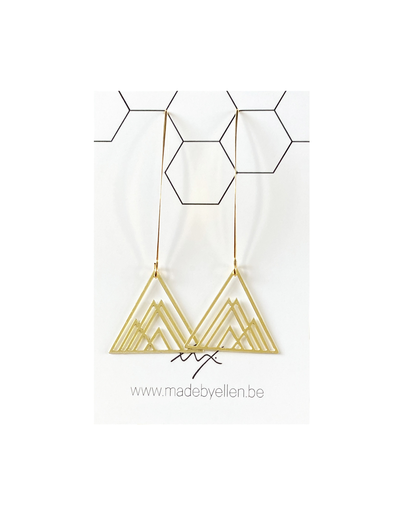 Hangers goudkleurig driehoeken klein