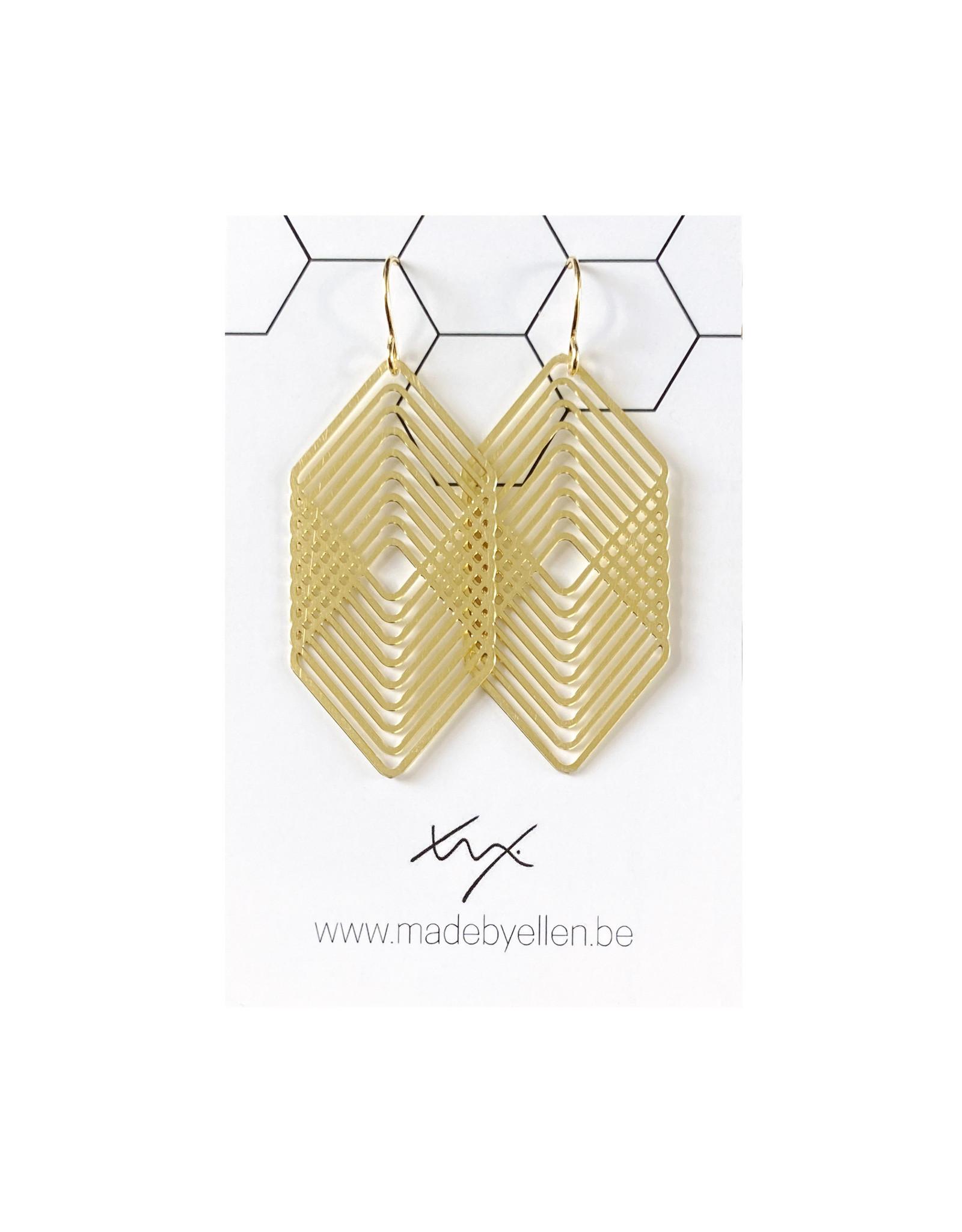Hangers goudkleurig vierkanten