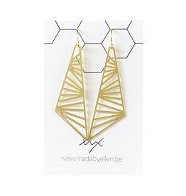 Hangers goudkleurig driehoek lang