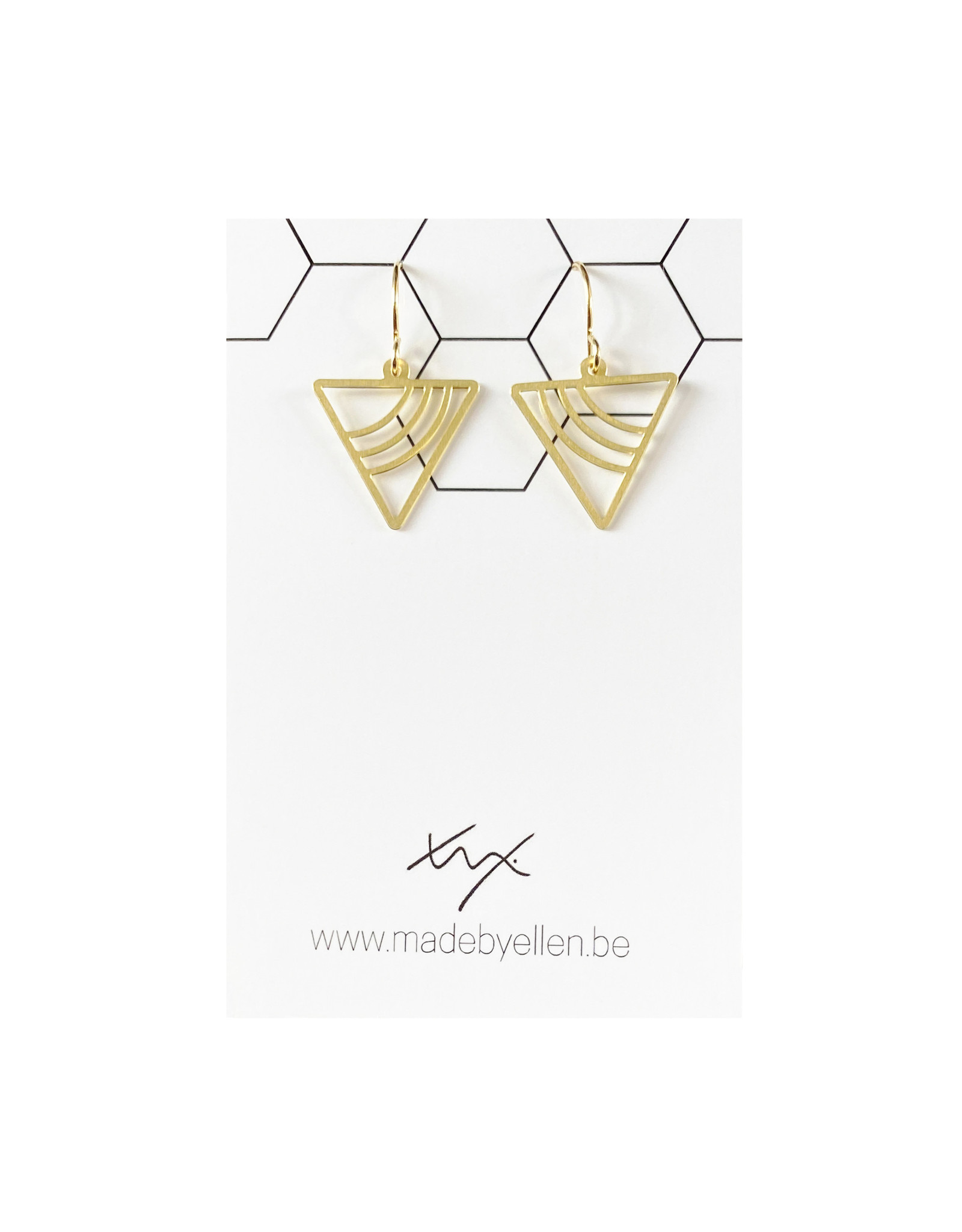 Hangers goudkleurig driehoek mini