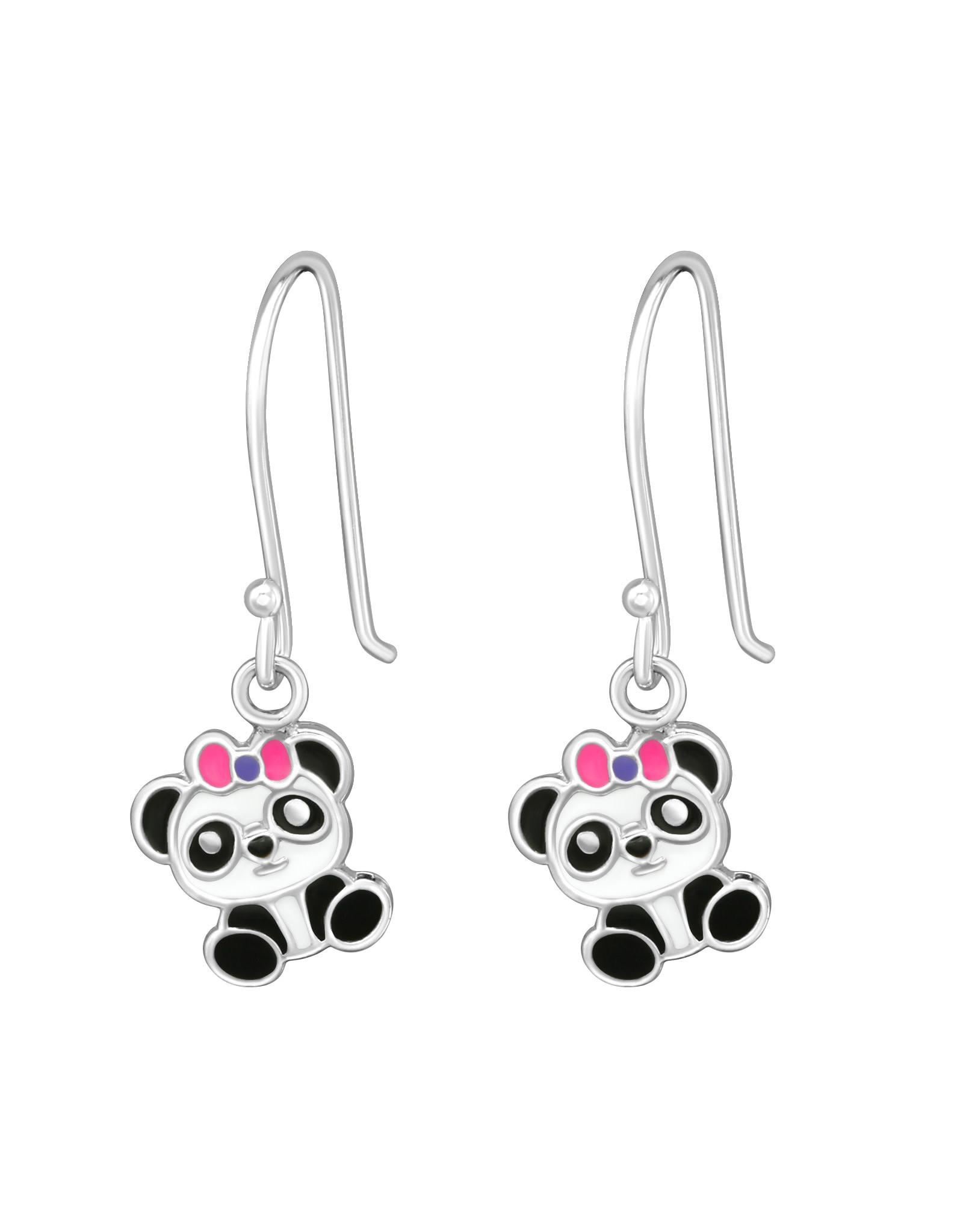 Hangers zilver panda strik