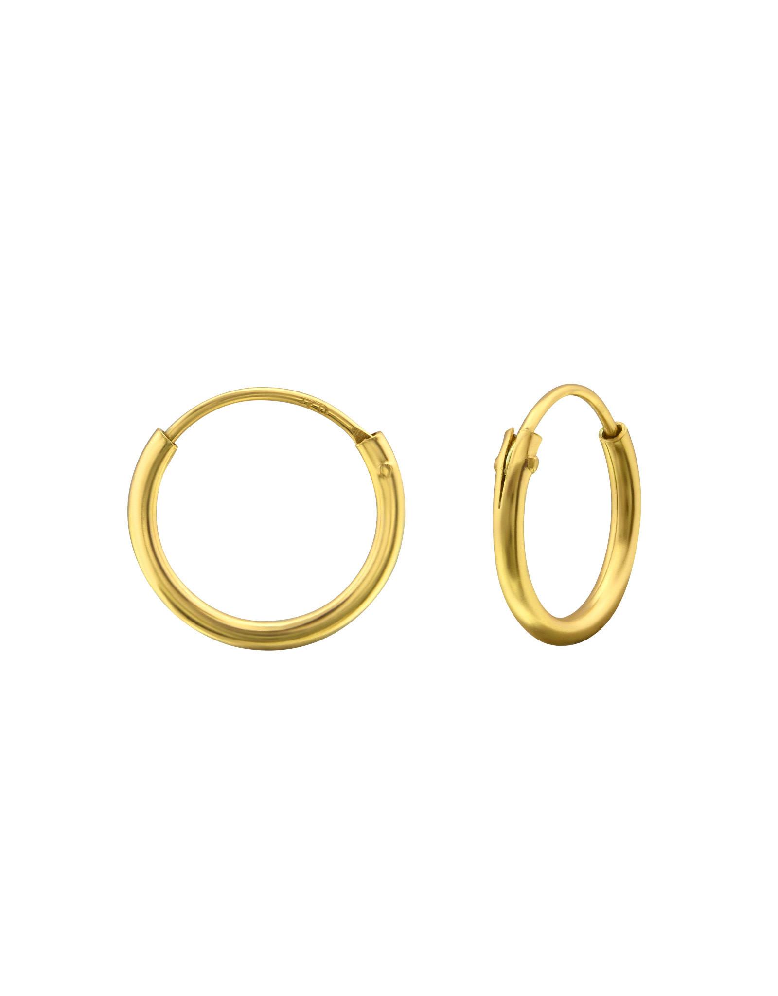 Ringetjes zilver verguld 12mm