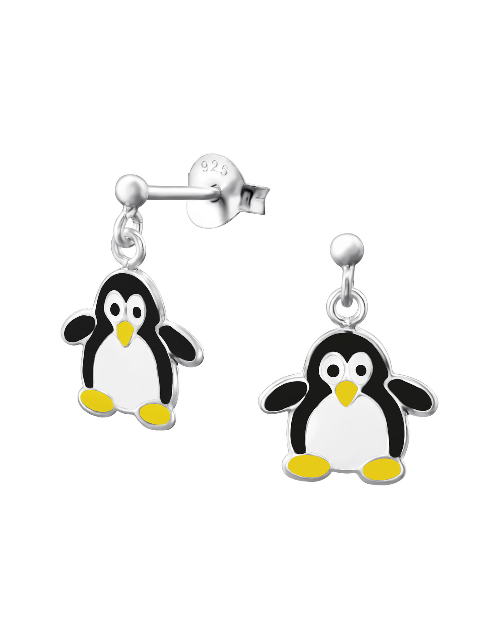 Stekertjes zilver pinguïn hangertje