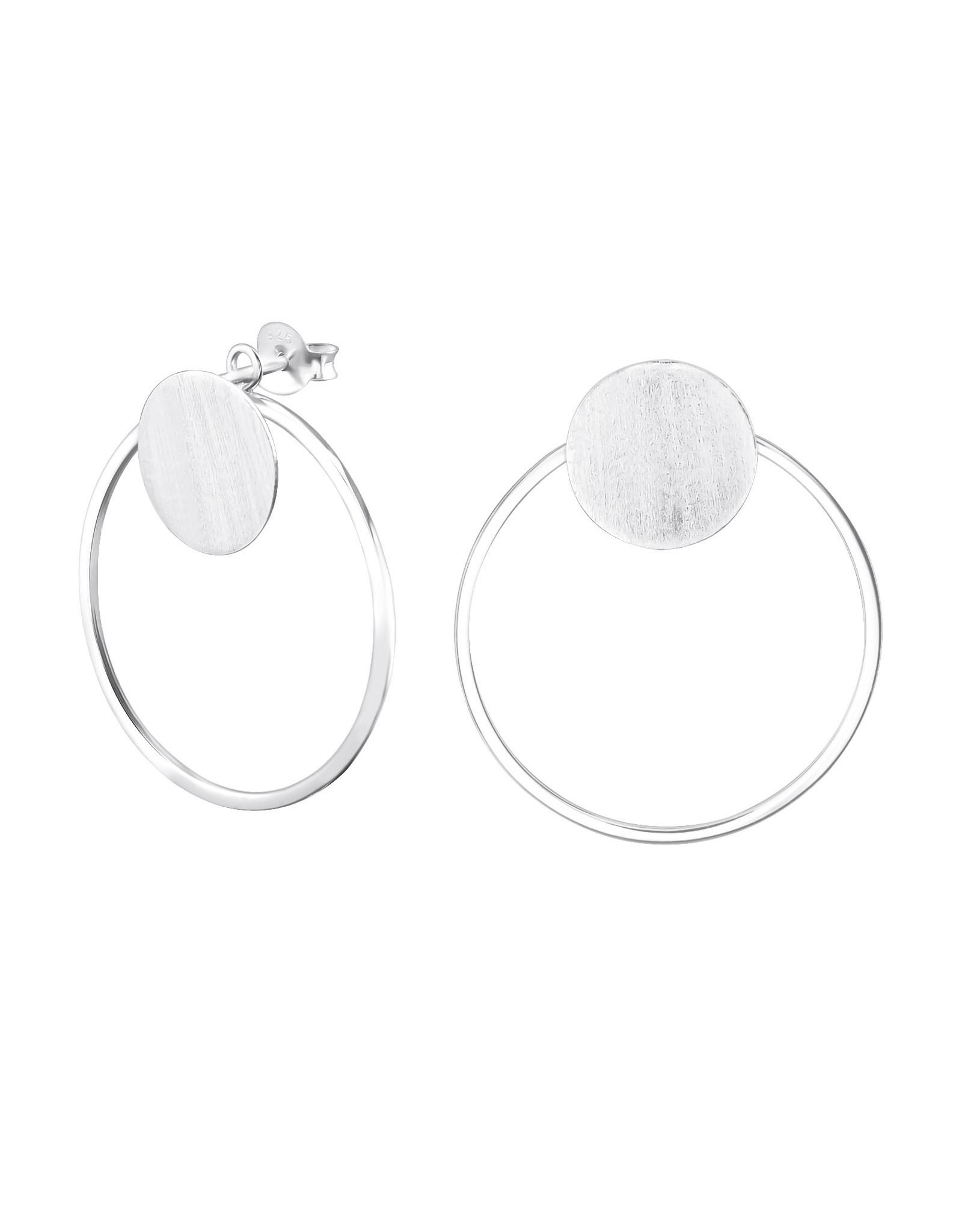 Stekertjes zilver dubbele ring groot