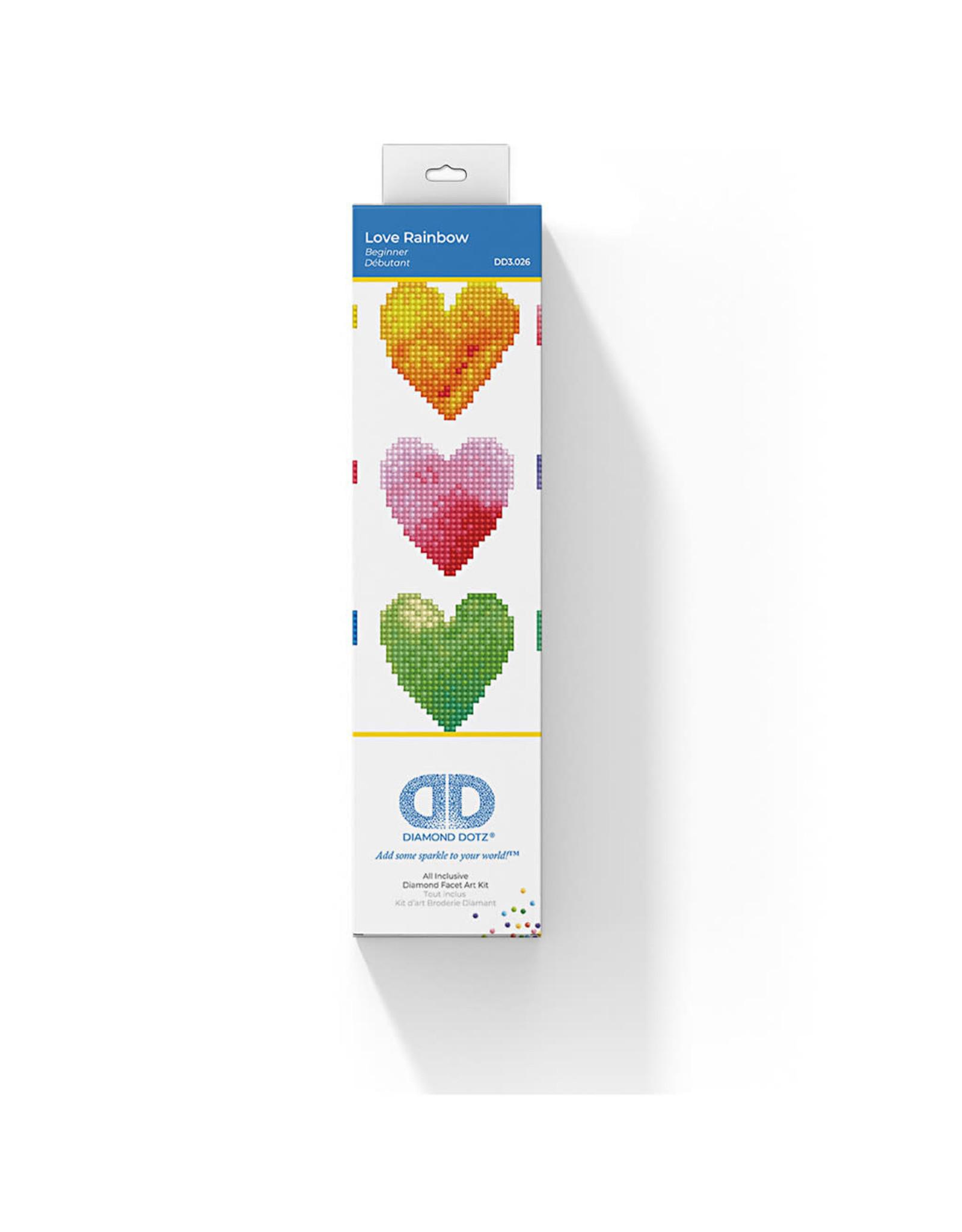 Diamond Dotz hart 23x23cm