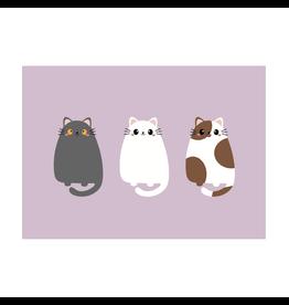 Postkaart kat trio