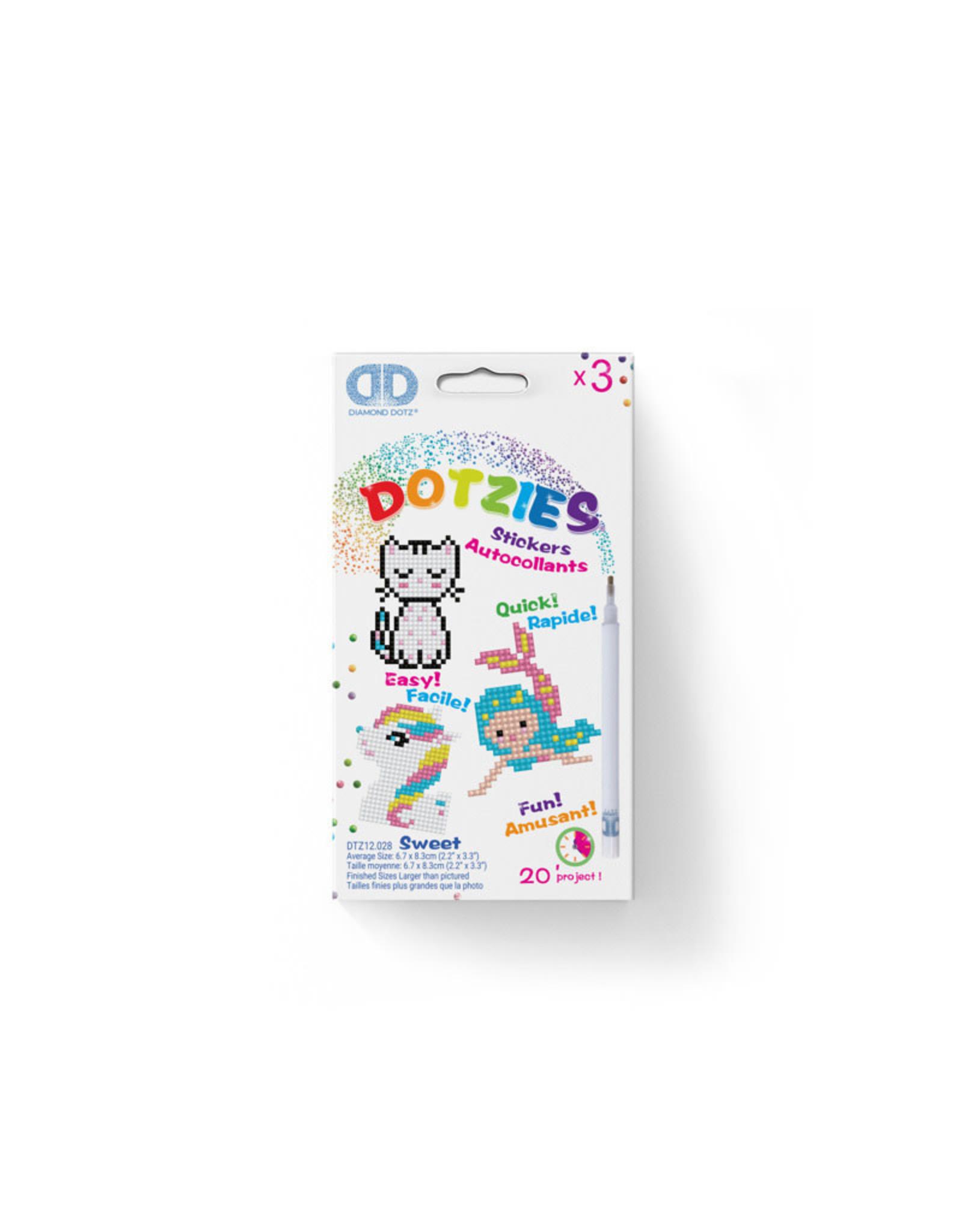 Diamond Dotz stickers SWEET