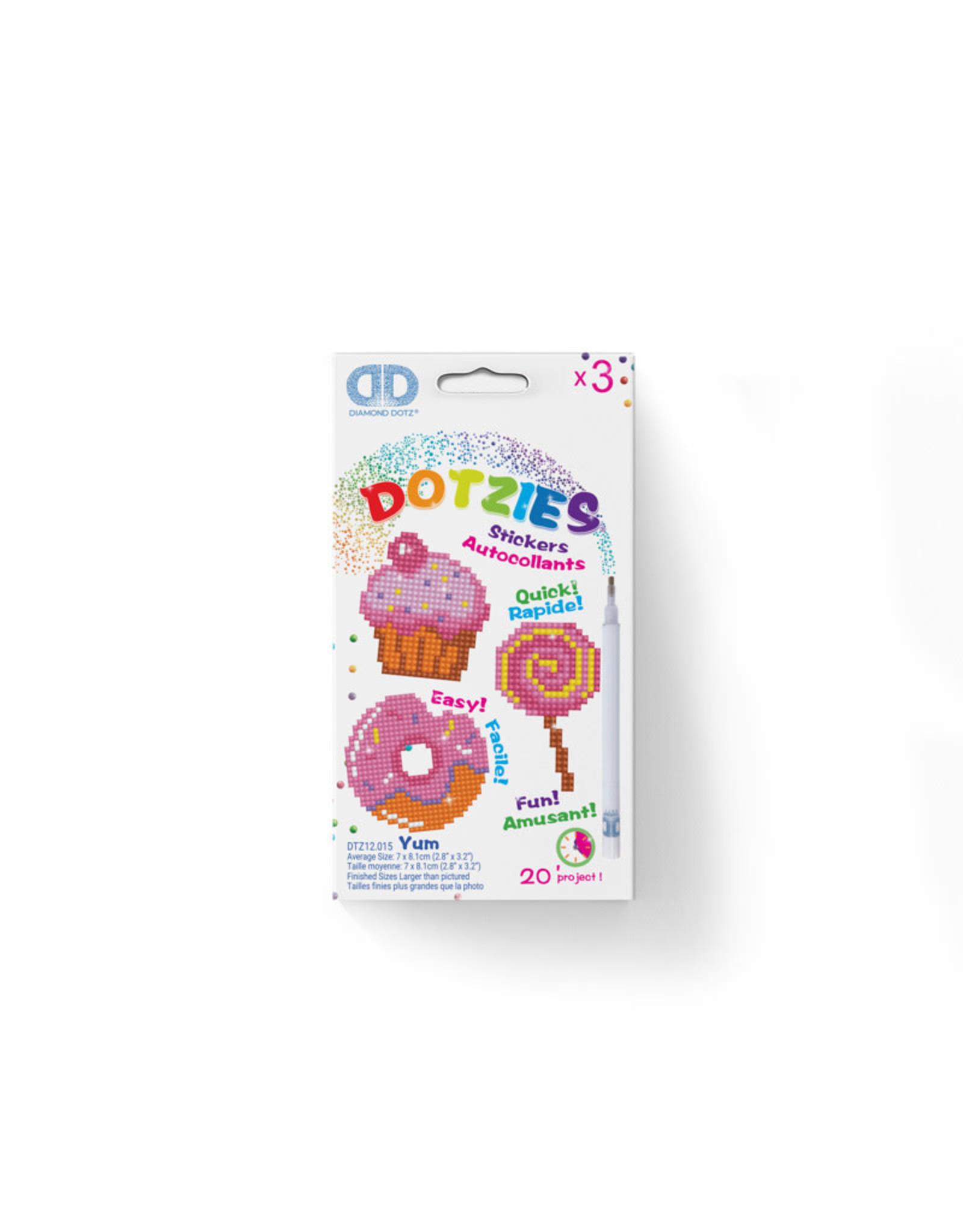 Diamond Dotz stickers YUM