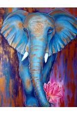 Diamond Painting olifant 30x40cm