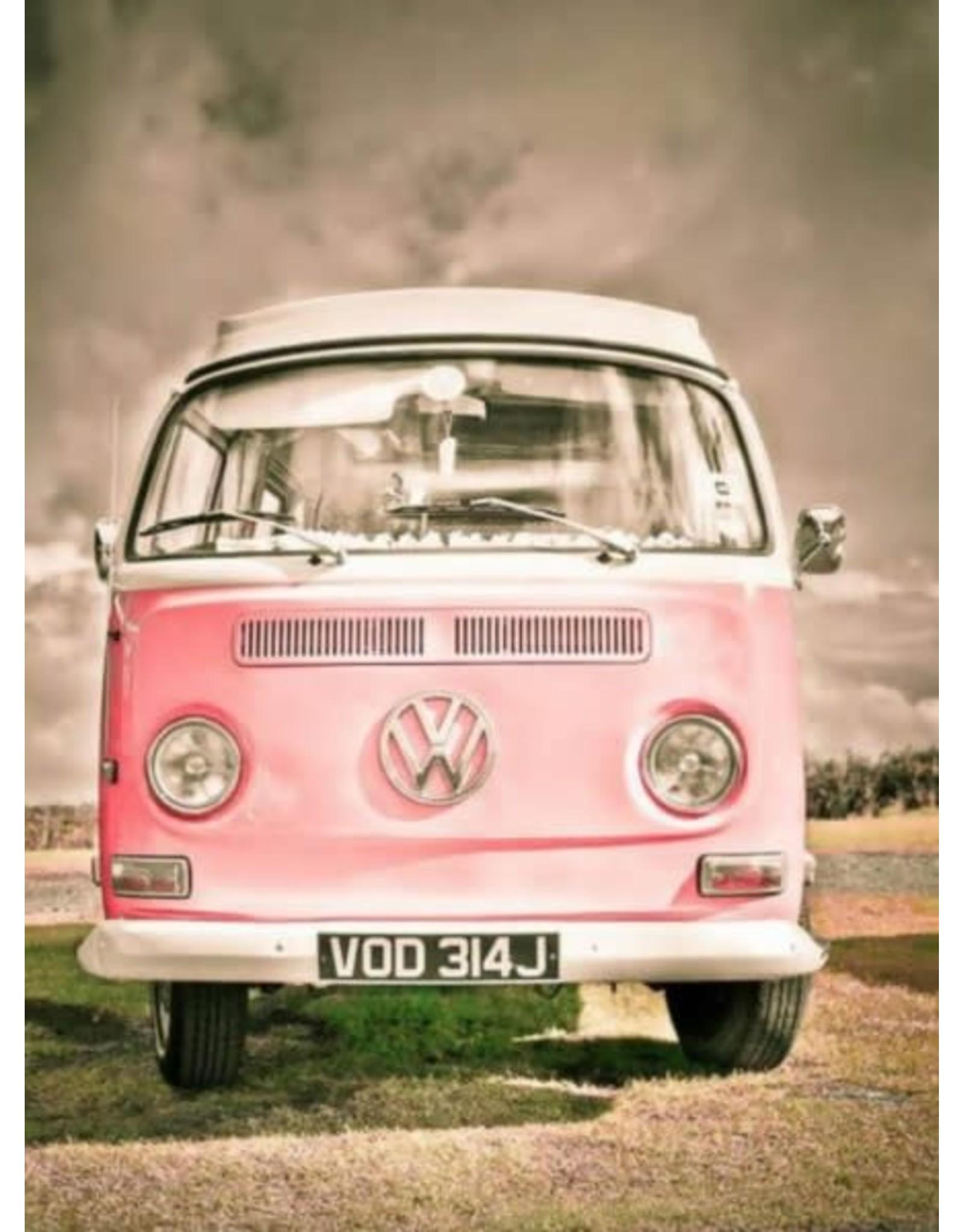 Diamond Painting VW busje roze 40x50cm