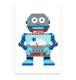 Diamond Dotz wenskaart robot