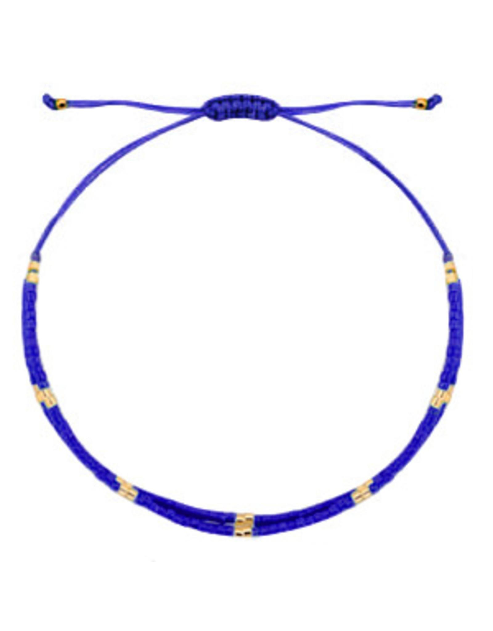 Armbandje fijn dubbel blauw