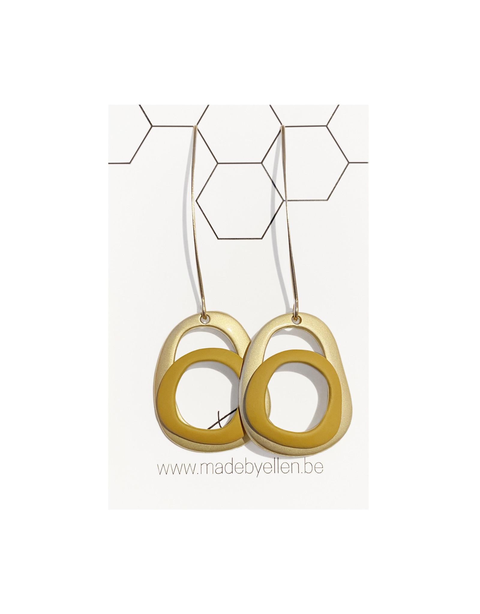 oorbEllen ovalen goud/oker