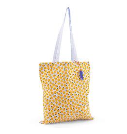KD: Tote bag geel/lichtblauw citroen