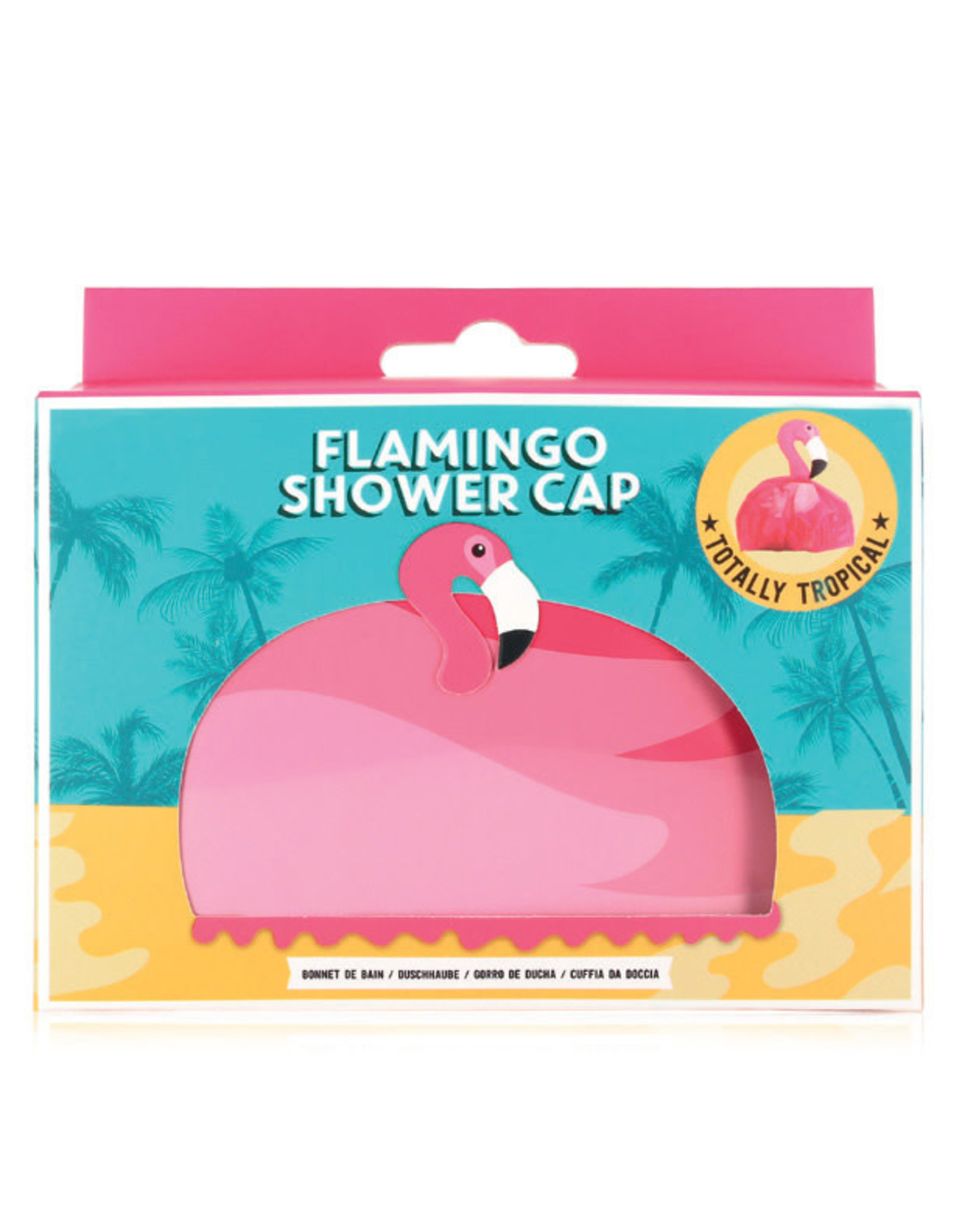 Douchekapje flamingo