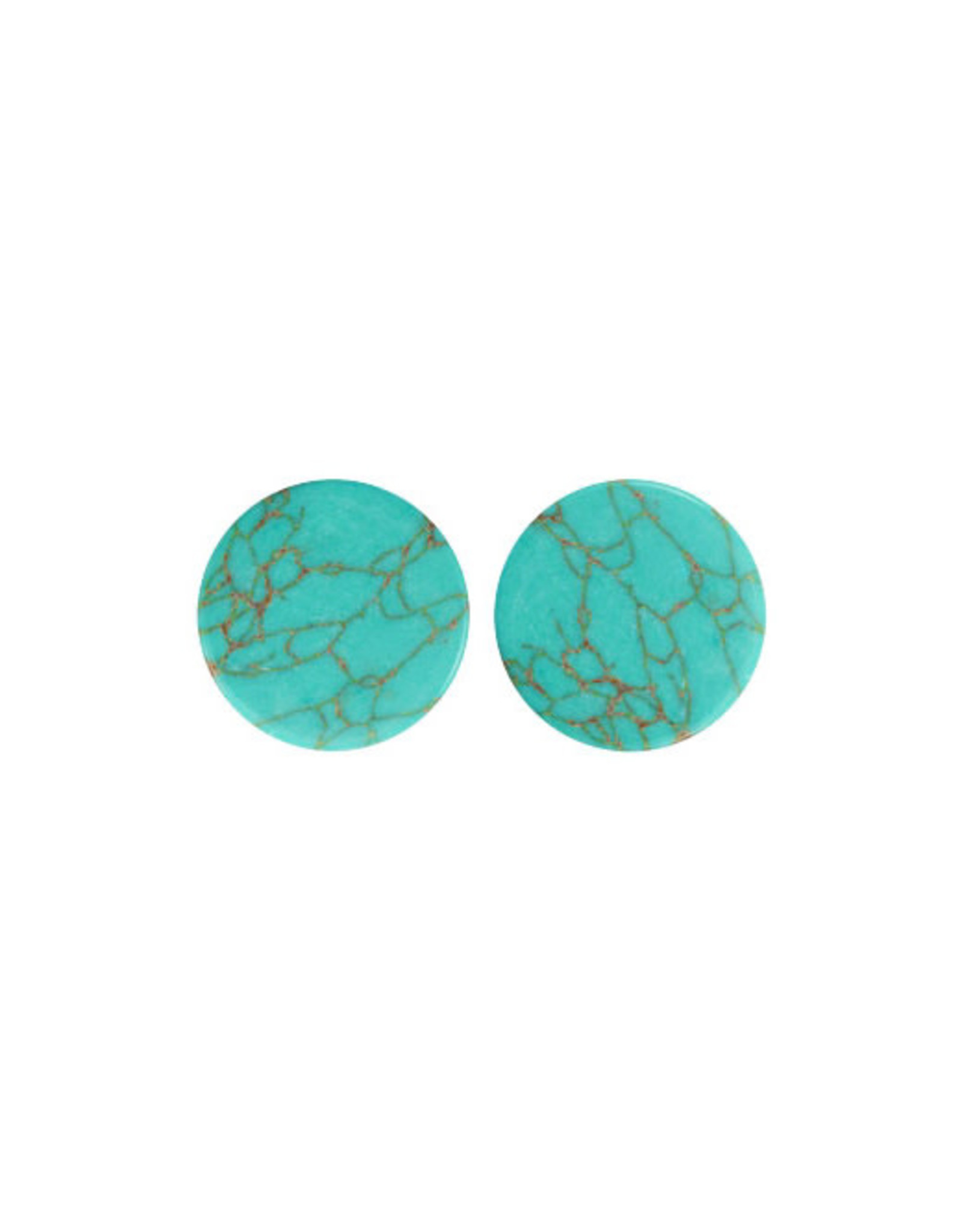 Stekers plat 12mm marmer turquoise