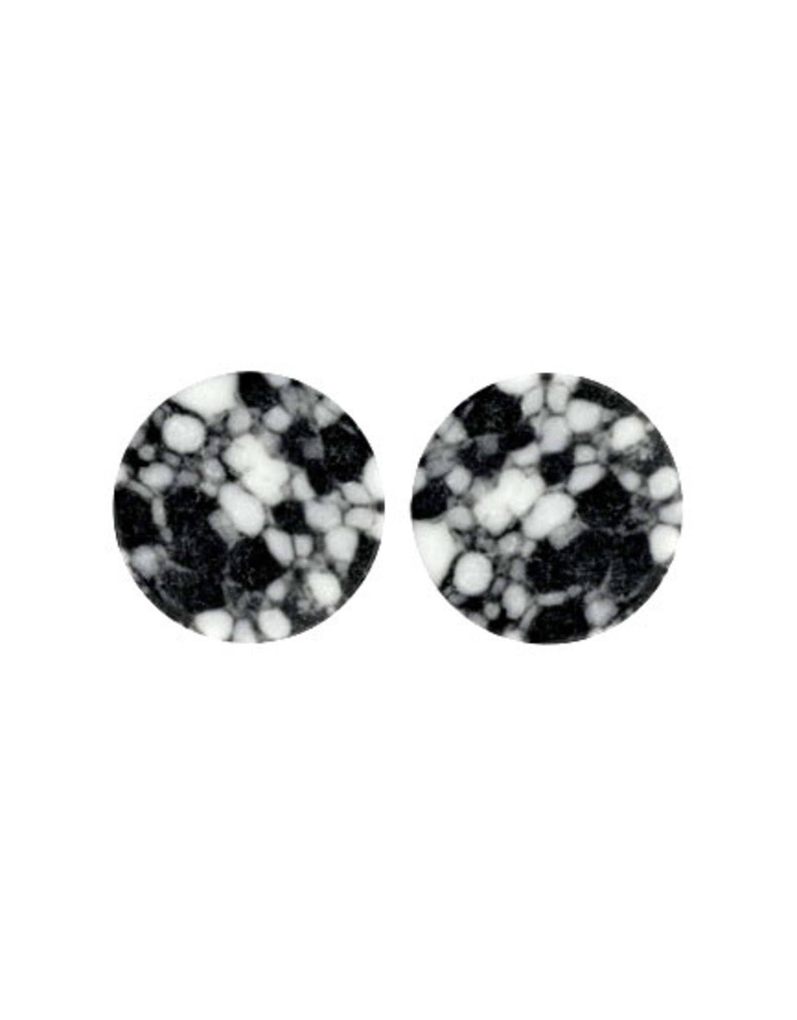 Stekers plat 20mm stone zwart wit