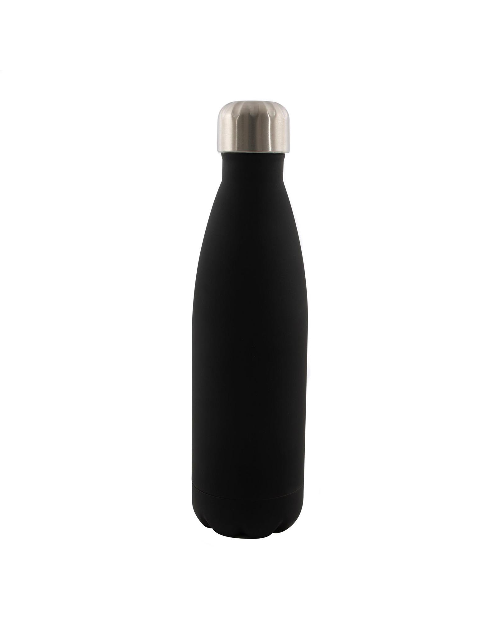 Dubbelwandige fles RVS mat zwart