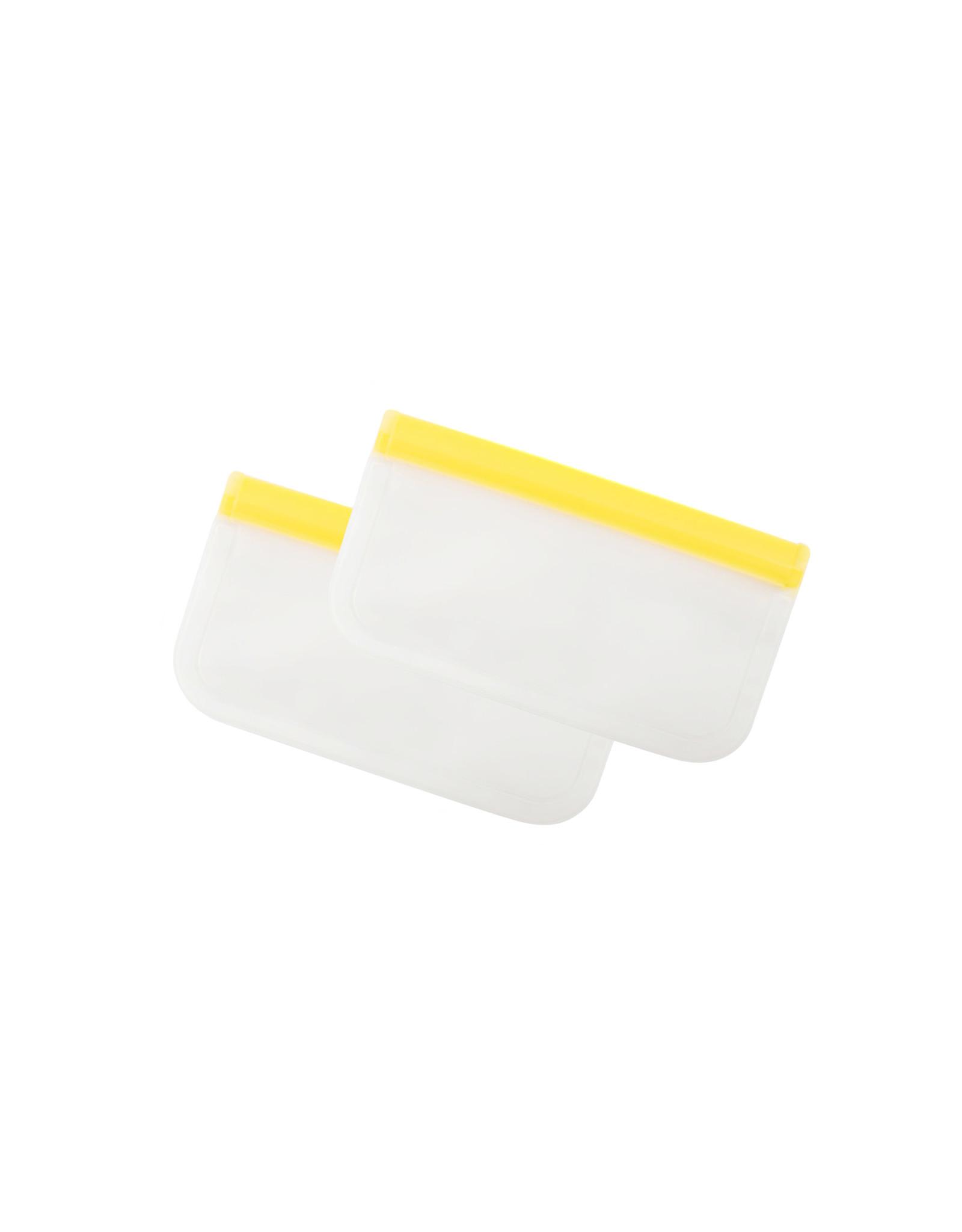 Herbruikbare vershoudzakken 2st. geel 290ml
