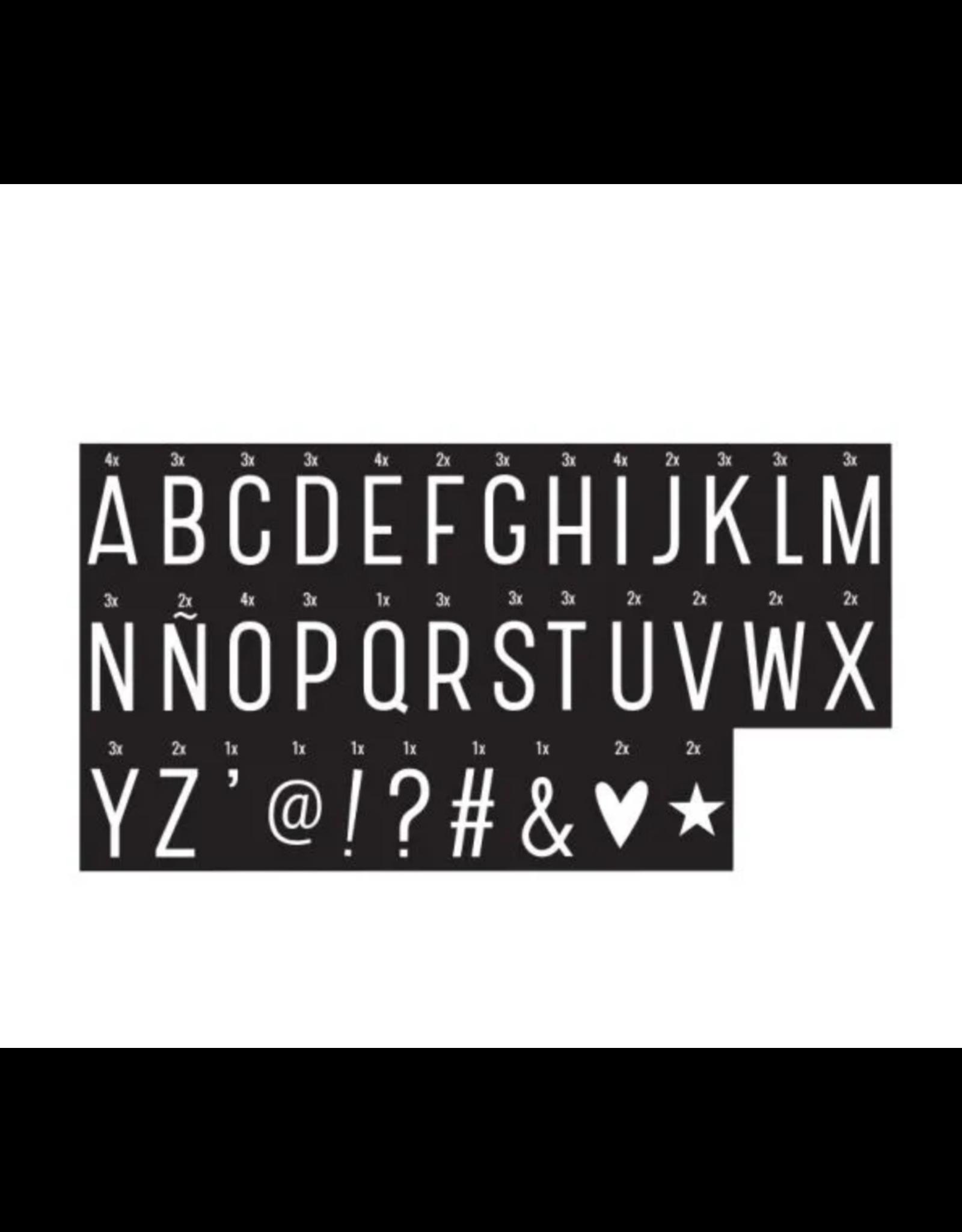 Letterset lightbox monochrome