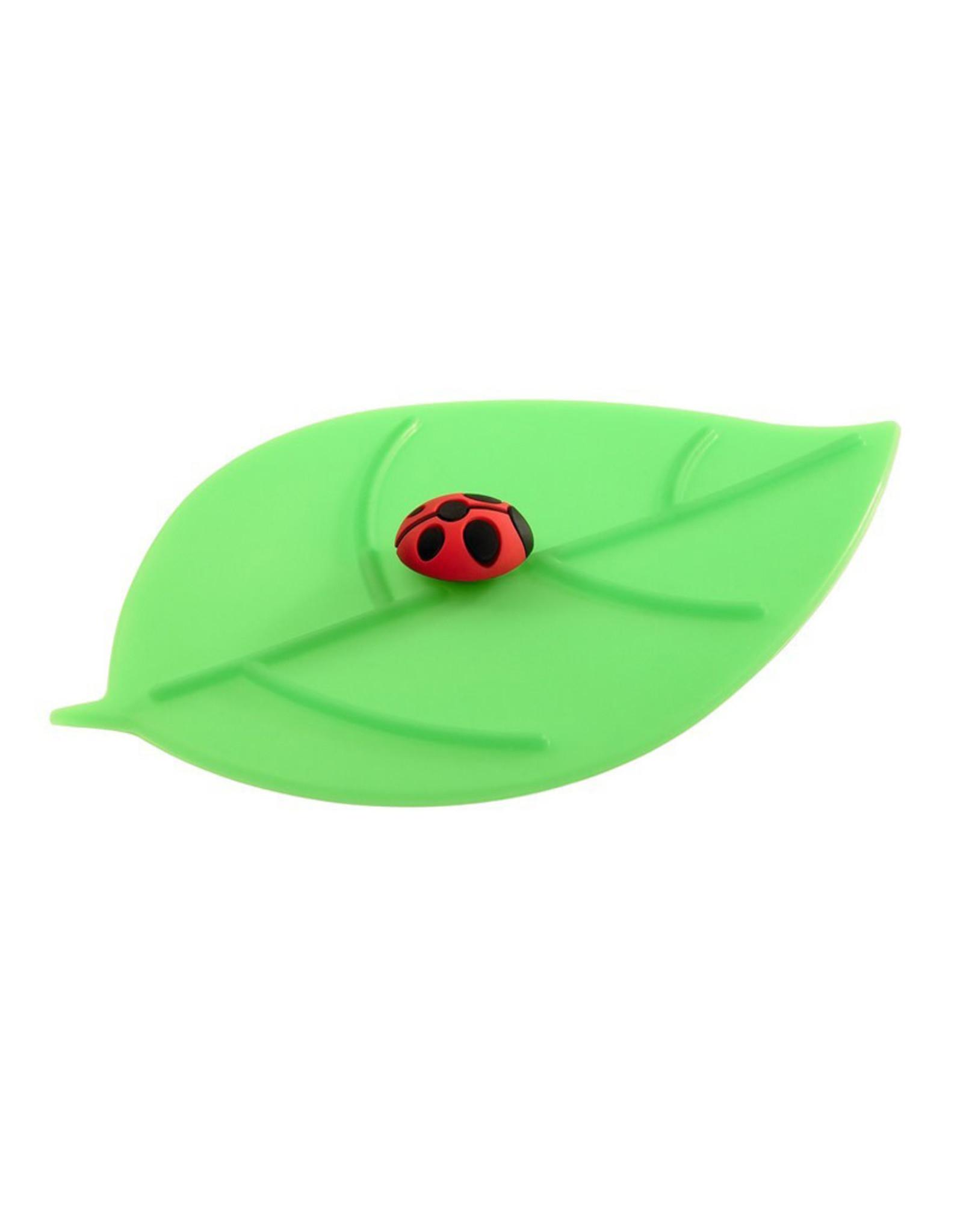 Deksel glas blad lieveheersbeestje