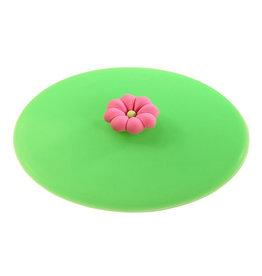 Deksel glas bloem roze