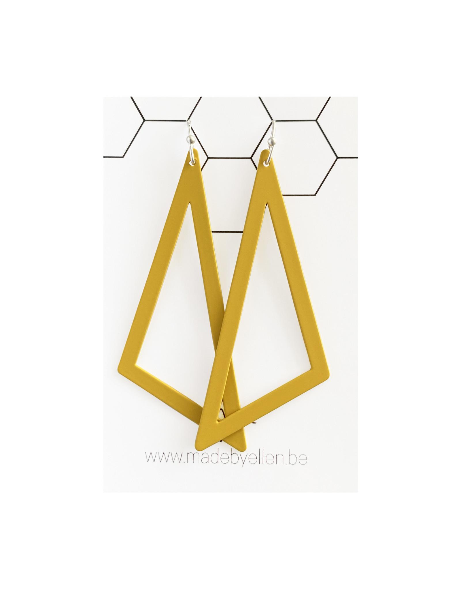 oorbEllen driehoek XL okergeel