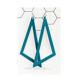 oorbEllen driehoek XL turquoise
