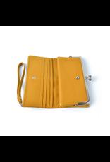 Portemonnee knip geel
