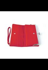 Portemonnee knip rood