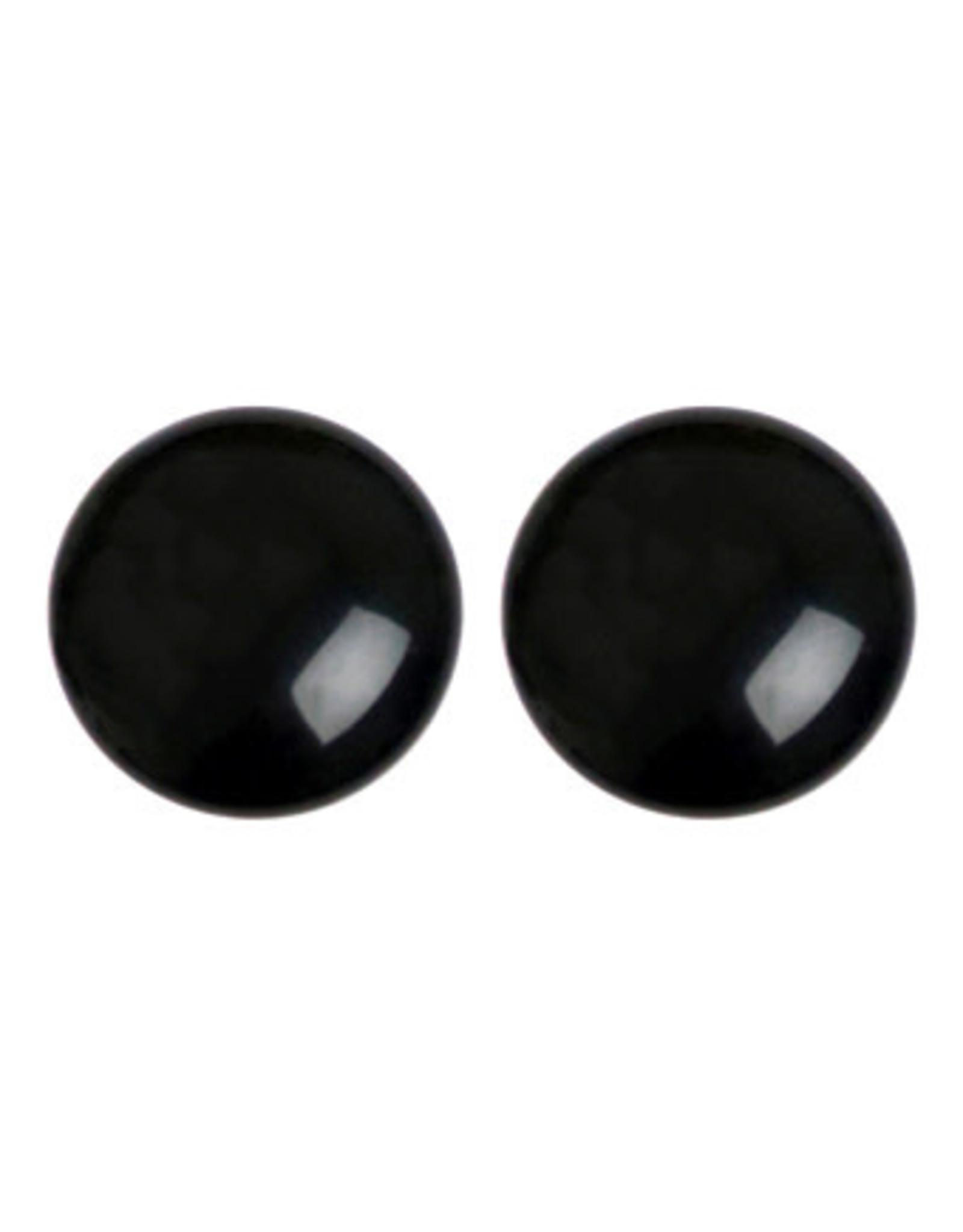 Stekers 20mm bol glans zwart