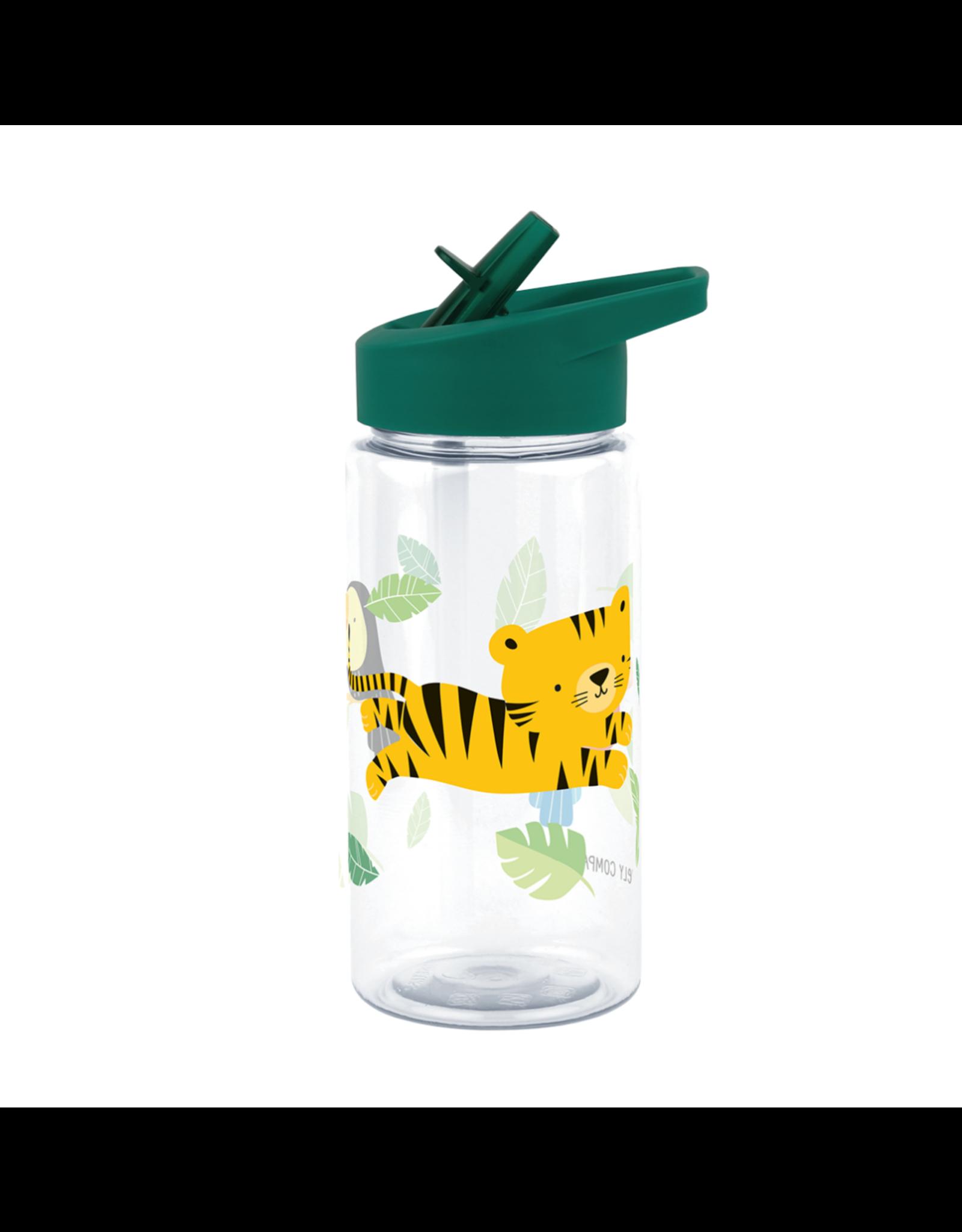 Drinkfles met rietje tijger