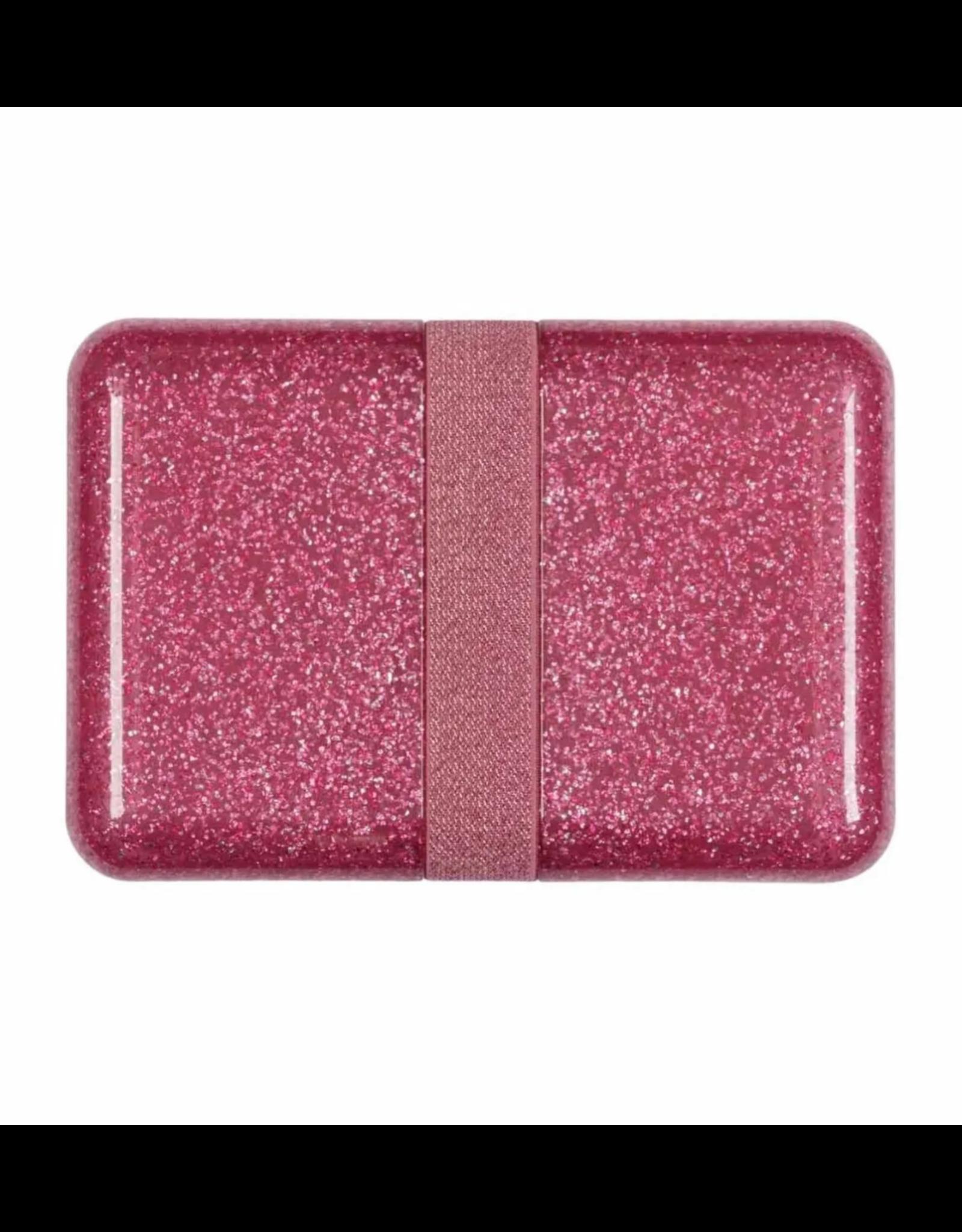Brooddoos met rekker glitter roze