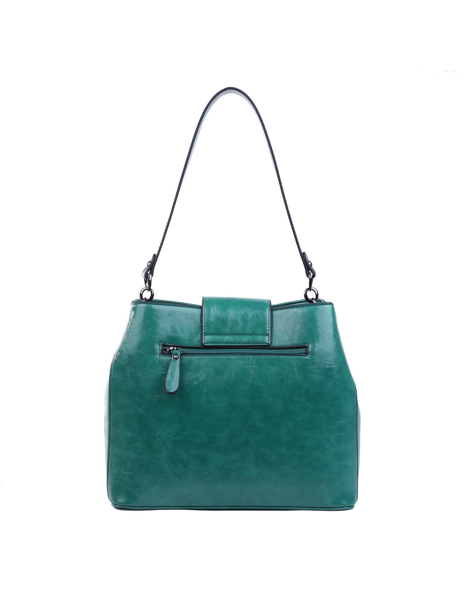 Handtas recht groen
